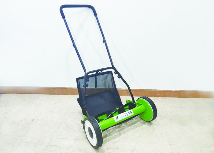 High Speed Home Manual Push Mower / Anti Vibration Manual Grass Mower